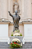 Statue of pope John Paul II in Warsaw Stock Images