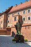 Statue of Pope John Paul in Krakow, Poland Stock Photography