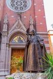 Statue Pope John XXIII in Istanbul Royalty Free Stock Photo