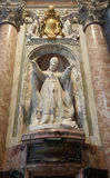 Statue of pope Pio X in St. Peter's Basilica. Stock Image