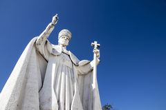 Statue of Pope Pius XII royalty free stock image