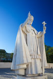 Statue of Pope Pius XII in Fatima, Portugal Royalty Free Stock Images