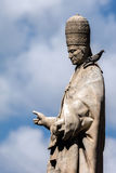 Statue of Pope Sergius. In front of the Palermo Cathedral in Palermo, Sicily Royalty Free Stock Photography