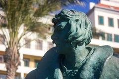 Statue of Portuguese explorer João Gonçalves Zarco. Sunny destination, exploration, cruise, history. stock photo