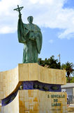 Statue of the Portuguese Patron Saint of fishermen in the Algarve S. Goncalo de Lagos Royalty Free Stock Images