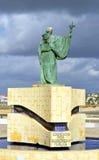 Statue of the Portuguese Patron Saint of fishermen S. Goncalo de Lagos Stock Photos