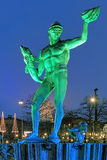 Statue of Poseidon in Gothenburg in the evening Stock Images