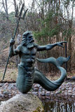 Statue of Poseidon in Jurmala Stock Image
