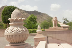 Statue of pot and elephant in jain temple Stock Images