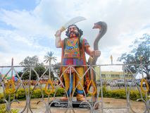 The Statue Of A Powerful Devil. Ravan,the devil in ramayana standing with his sword Stock Photos