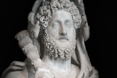 A statue of powerful Hercules, closeup, Rome, Italy Stock Photos