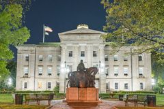 Statue présidentielle chez Carolina Capitol Building du nord au Ni photos stock
