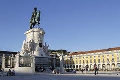 Statue on Praca do Commercio Stock Photography