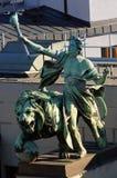 Genius and Lion Statue - Prague, Czech Republic Royalty Free Stock Image