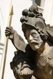 Statue in Prague. Statue of the marian pilgrimage site of Loreta in Prague Stock Photo