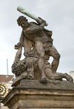 Statue in Prague Stock Images