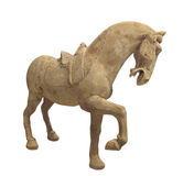 Statue of a prancing horse isolated Royalty Free Stock Photography