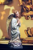 Statue of a Praying Angel in Prague Stock Photo