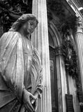 Recoleta cemetery, Buenos Aires, Argentina. Statue of a praying Lady, Recoleta cemetery, Buenos Aires, Argentina Stock Images