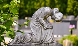 Statue of a praying Madonna Stock Images