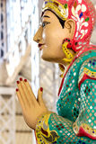 The Statue of praying  in Ngahtatkyi Pagoda Temple in Yangon, Stock Photo