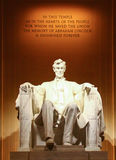 Statue of President Abraham Lincoln stock photos