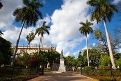 Statue of president Carlos Manuel de Cespedes on the Plaza de Ar. Havana, Cuba - January, 22,2017: Statue of president Carlos Manuel de Cespedes on the Plaza de royalty free stock images