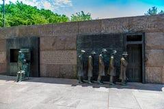 Statue in presidente F d Monumento di Roosevelts Fotografia Stock