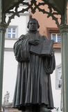 Statue of a priest or scholar in robes Royalty Free Stock Images