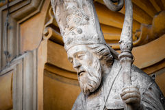 Statue of the priest with the staff. Royalty Free Stock Images