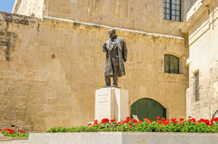 Statue of Prime Minister Paul  Boffa in Valletta. Statue of Prime Minister Paul Boffa,  sculpted by Vincent Apap, at the Castille Place & x28;Castille Square& Stock Image