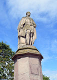 Statue of Prince Albert on North Inch, Perth, Scotland. Statue of Prince Albert (consort to Queen Victoria) overlooking Charlotte Street at the southern end of royalty free stock photography