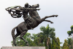 Statue of Prince Diponegoro in Jakarta, Indonesia Stock Images