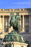 Statue of Prince Eugene. In front of Hofburg palace in Vienna, Austria Stock Image