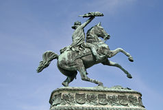 Statue of Prince Eugene in front of Hofburg Palace, Vienna, Austria Stock Images