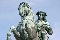 Statue of Prince Eugene in front of Hofburg Palace, Vienna, Austria Royalty Free Stock Images
