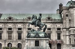 Prince Eugene statue in Vienna Royalty Free Stock Photography