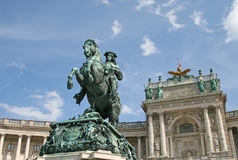 Statue of Prince Eugene, Hofburg Palace, Vienna, Austria Stock Photos