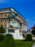 Statue of Prince Eugene of Savoy. In front of Buda castle in Budapest Royalty Free Stock Image