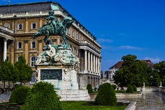 Statue of Prince Eugene of Savoy. In front of Buda castle in Budapest Stock Images