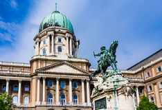 Statue of Prince Eugene of Savoy. In front of Buda castle in Budapest Royalty Free Stock Images