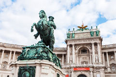 Statue of Prince Eugene of Savoy in Vienna Royalty Free Stock Image