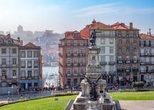 Prince Henry the Navigator Square, Porto, Portugal. stock image