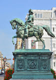 Statue of prince William I in historical centre of Hague, Netherlands Stock Photos