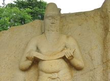 A detail of the wiseman in Polonnaruwa Royalty Free Stock Images
