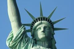 statue proche de liberté vers le haut Image stock