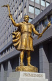 Statue of Prometheus in Tokyo Stock Image