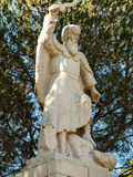 Statue of the prophet Elijah on Mount Caramel, Royalty Free Stock Image