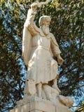 Statue of the prophet Elijah on Mount Caramel, Royalty Free Stock Image