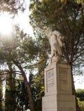 Statue of the prophet Elijah on Mount Caramel, Royalty Free Stock Images